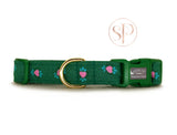 Gold Stars Collar - Green