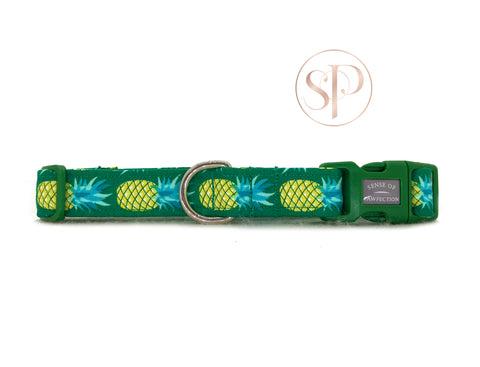 Pineapples Collar - Green