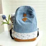 Denim and Lace Backpack - 2 Colors