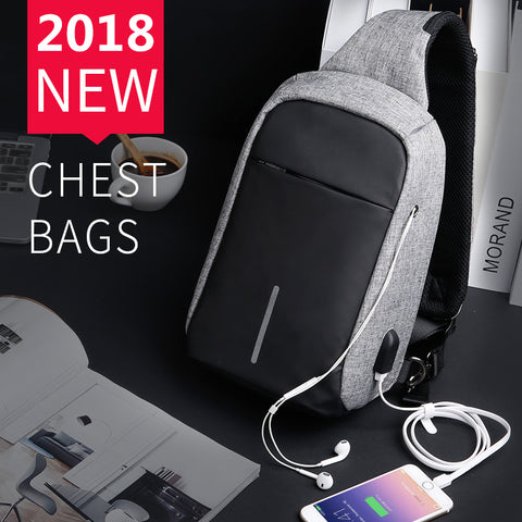 Cross-Body Pack With USB Charger