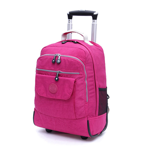 Rolling Luggage Travel Backpack or Carry on Duffel Bag 4 Colors