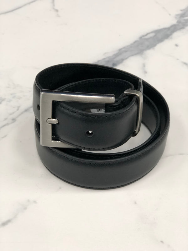 NICKEL SLIM DRESS BELT
