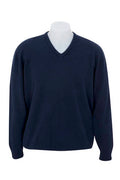 NATIVE WORLD V-NECK PLAIN KNIT SWEATER - JUDDS=MEN