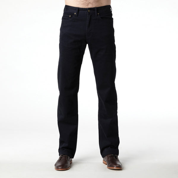 RIDERS STRAIGHT MOLESKIN STRETCH NAVY