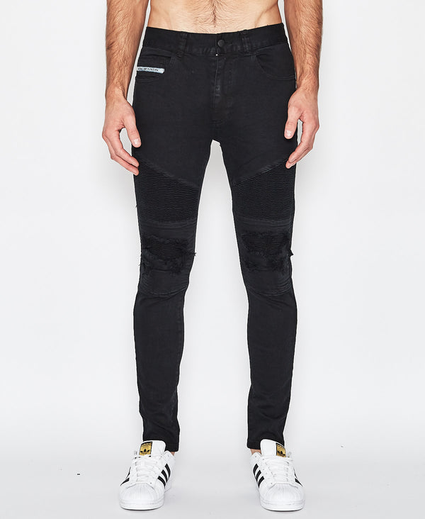 NXP COMBINATION SLIM BIKER JEAN BLACK