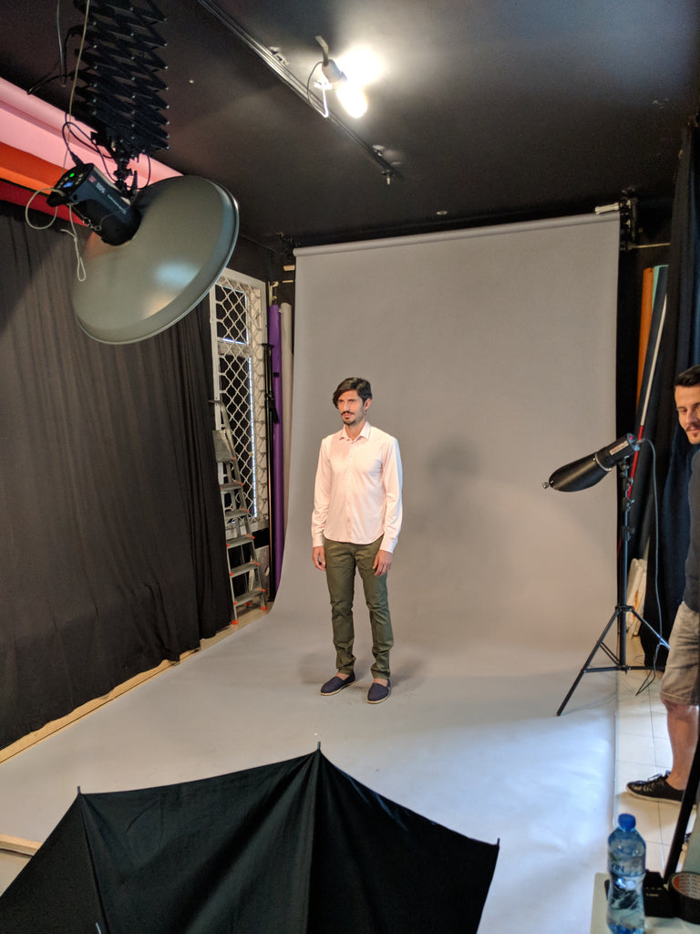 Behind the scenes of the first professional DULO product shoot