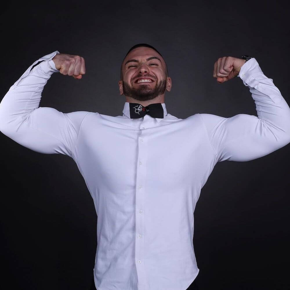 DULO best dress shirt for athletic build