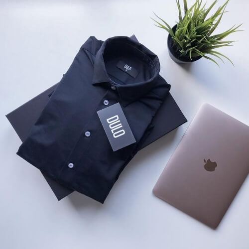 DULO box and dress shirt unboxed
