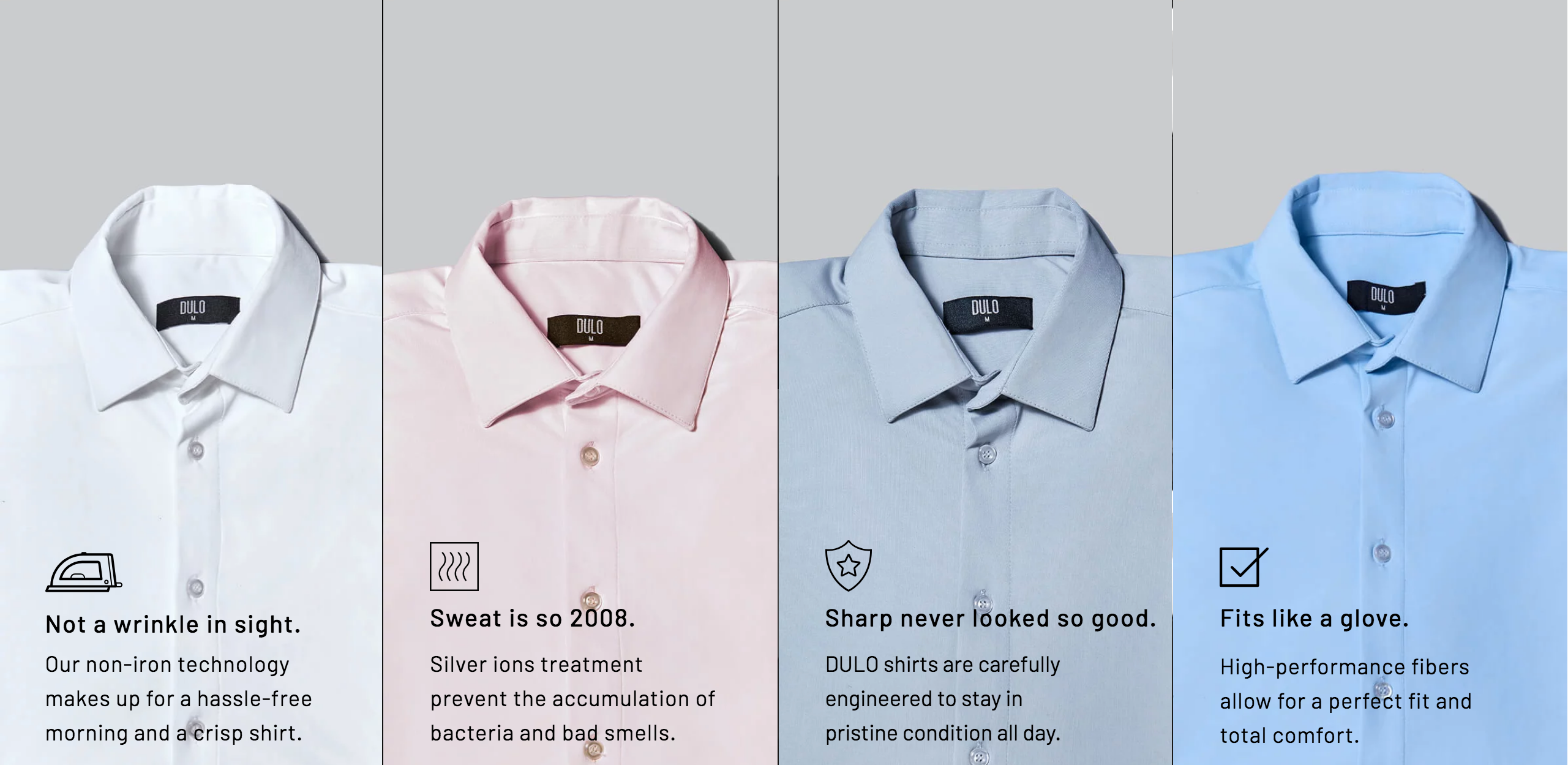 DULO Performance Dress Shirt Properties
