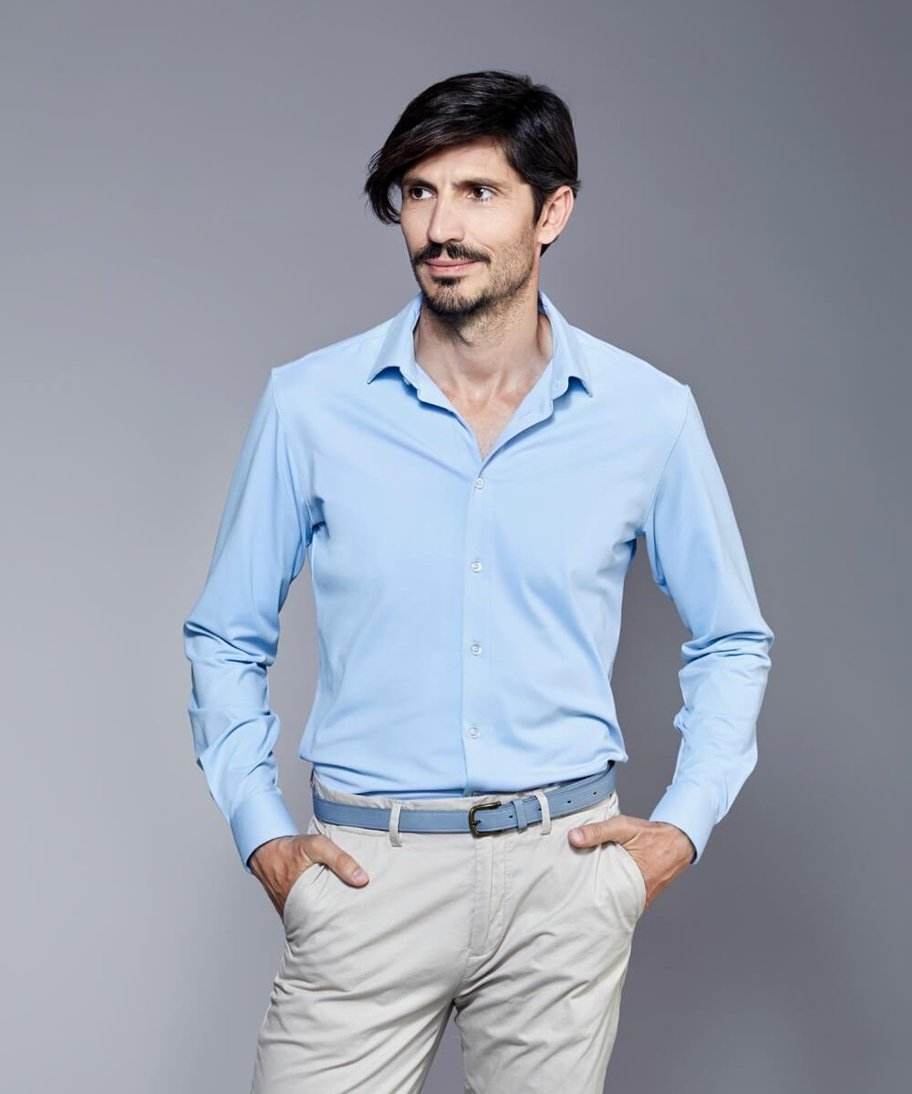 DULO Origins Blue performance dress shirt