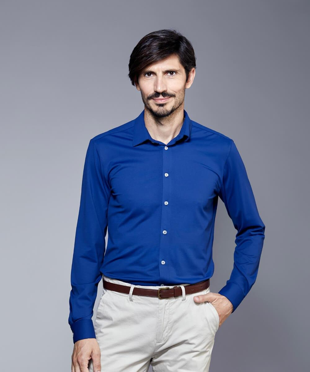 DULO Origins Indigo performance dress shirt