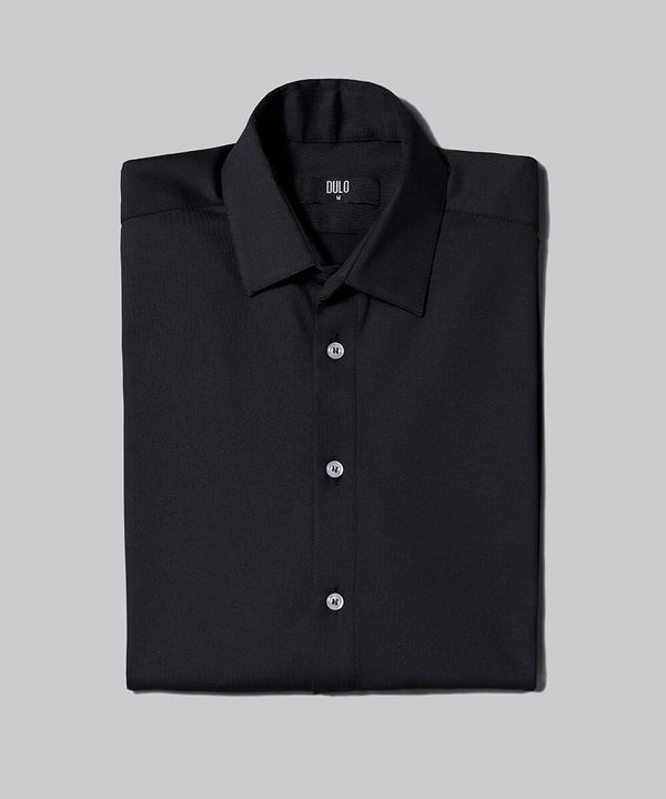 DULO Origins Black performance dress shirt
