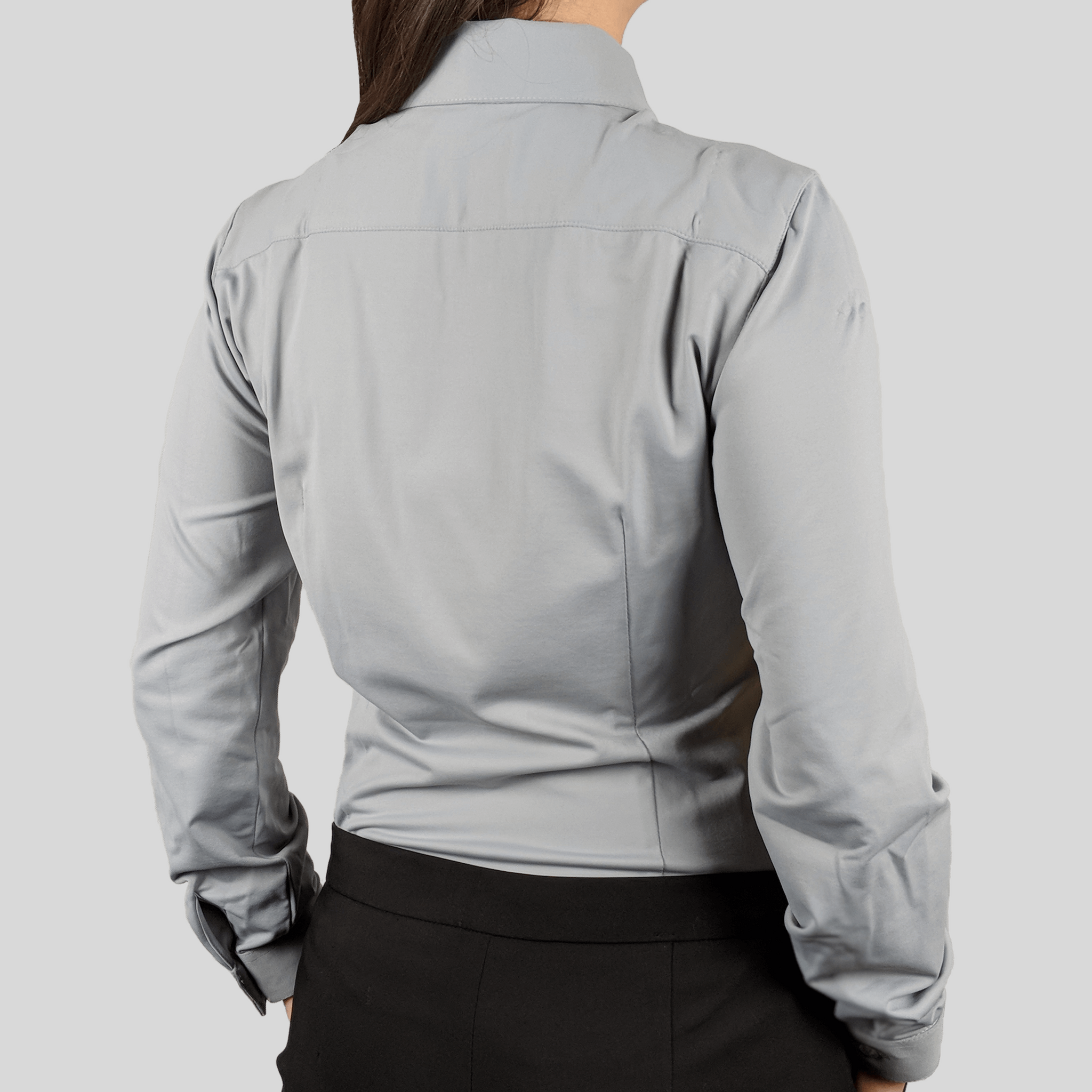 Origins Grey for women dress shirt from advanced fabrics by DULO