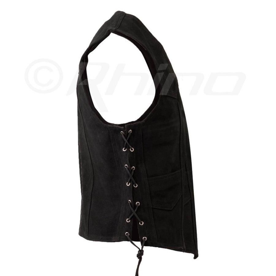 MAESTRO SUEDE VEST WITH METAL CLASPS