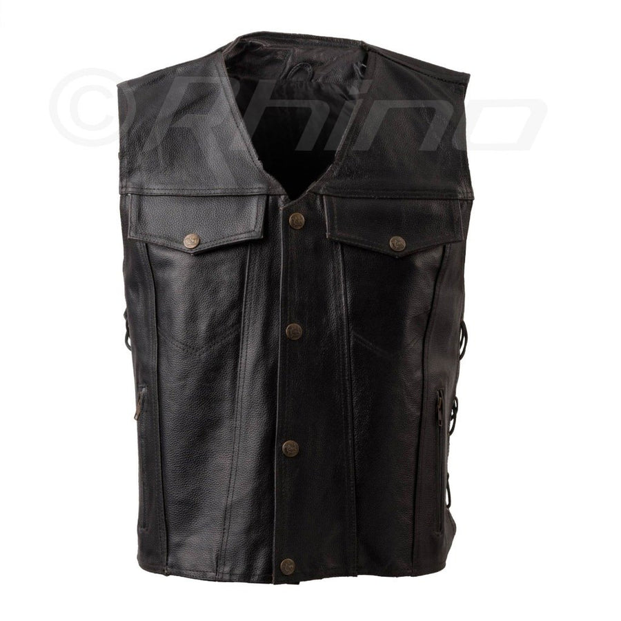 OUTLAW LEATHER BRAIDED VEST - US STYLE