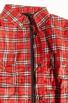 PIONEER SHIRT REINFORCED WITH PROTECTIVE ARAMID LINING - BLACK AND RED