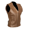 TARA BROWN LEATHER FASHION VEST