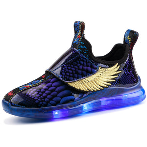Children's 7 Colors LED Shoes Flashing Rechargeable Sneakers - SIKAINI