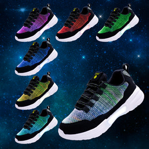 Boy Girls Fiber Optic Light Up Shoes Rechargable Luminous Shoes for Men Women - SIKAINI