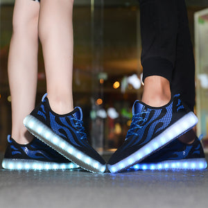 Breathable Sneakers Light up Shoes for Men Women - SIKAINI