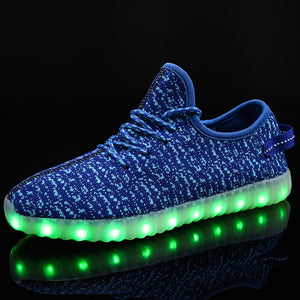 7 Color LED Light Up Shoes Chargable Sneaker for Girls Boys Luminou Shoes for Party ,Dancing - SIKAINI