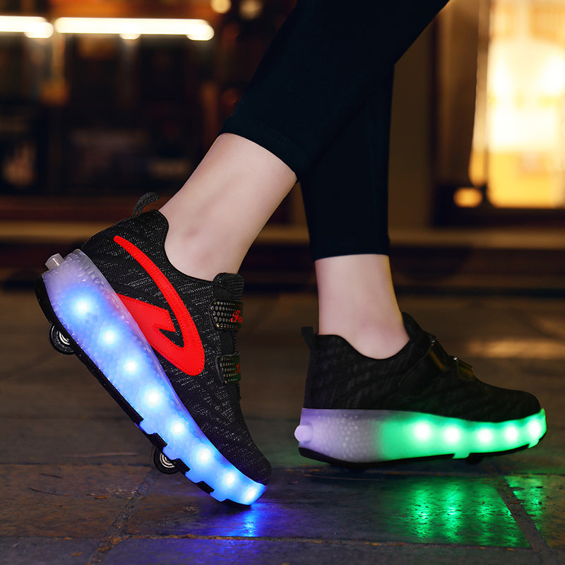 Muchy Kids LED Light Up Shoes Boys Girls Sneakers Flashing Shoes Comfortable Footwear for Toddler Thanksgiving Christmas Day Best Gift Party Dancing Shoes