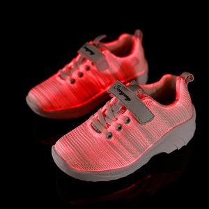 Fiber Optic LED Light Up Flashing Shoes for Boys Girls - SIKAINI