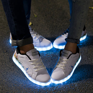 USB Charging Light Up Shoes Sports LED Shoes for Men & Women - SIKAINI