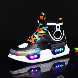 LED Light Up Low Top Sneakers for Girls Boys - SIKAINI