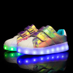 Fashion LED Light Up Shoes USB Charging Sneakers for Kids - SIKAINI