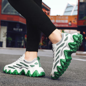 Breathable casual shoes with a wave bottom in spring and autumn