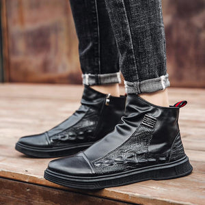 Cotton shoes and boots for winter men keep warm
