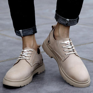 Casual leather shoes men outdoor shoes short boots
