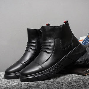 Business casual high boots martin boots men's shoes