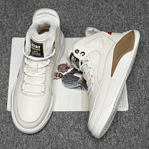 Casual sports shoes made of cotton with a medium cut