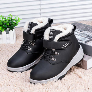Women's snowshoes and velvet-padded cotton shoes
