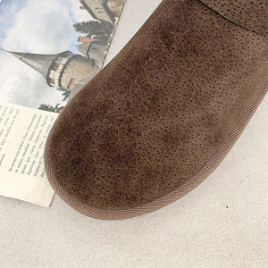 Women's winter boots, fur-lined, warm winter shoes, lightweight ankle boots, outdoor hiking shoes