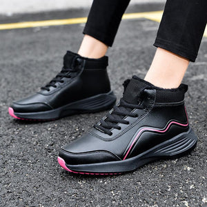 Women's shoes mid-top non-slip cotton shoes and hiking boots