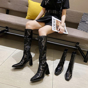 Women's boots knee-length long spring and autumn