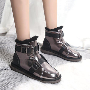 Single-stage winter shoes made from thick-soled and velvety cotton shoes