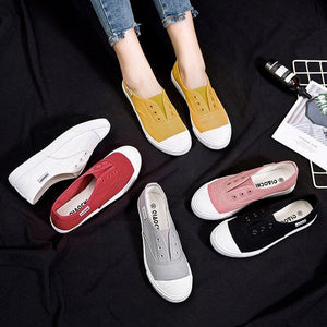 Women sneakers canvas shoes fashion flats low-cut lace-up shoes woman casual