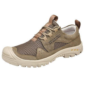 Spring and summer great single color breathable outdoor mesh shoes