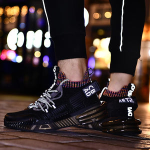 Spring and summer large sports rubber sole running shoes