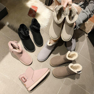 Autumn and winter cotton boots soft sole women warm cotton shoes