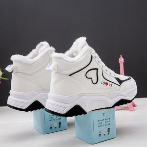 Autumn and winter cotton shoes wear casual shoes high up
