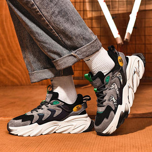 Autumn winter high end PU absorbent film sole sneakers men's shoes