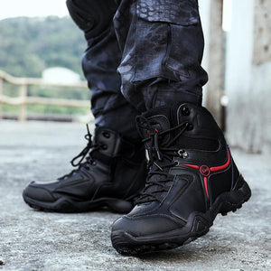 Men's military boots e Commando boots training boots e hiking boots