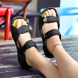 Men's Soft Sole Beach Breathable Hook Loop Sandals