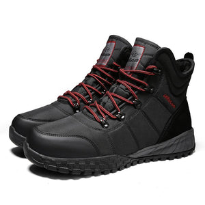 Men winter shoes snow shoes outdoor boots winter boots casual shoes keep warm snow boots
