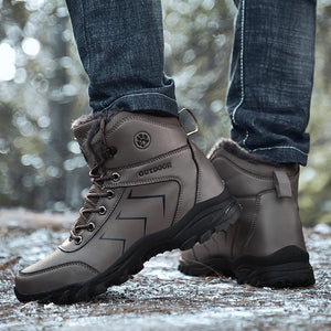Men's winter boots Warm lined winter shoes, non-slip Classic winter shoes